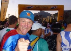 Australia's Marathon Man Trent Morrow chasing the World Record for the most marathons in twelve months; marathonman; running man; cape town marathon